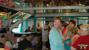 cathy honeycutt of FOX TV aboard the suncruz casino boat at a chamber after hours in little river