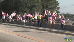 Never Forget - Flags on Bridges