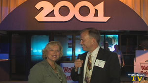 john zilinsky interviewing at the myrtle beach hospitality bash at 2001 nightclub