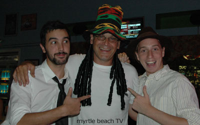 myrtle beach TV at the Mad Hatter Party at Tequila Mockingbird