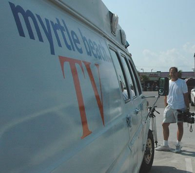 myrtle beach tv production truck and principle cameraman warren walker