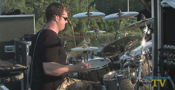 Eason drummer Russ Whitman at The Boathouse on the Intracoastal Waterway in Myrtle Beach