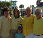 ccc, allison floyd and daughter, susan and donny trexler at plyer park in downtown myrtle beach
